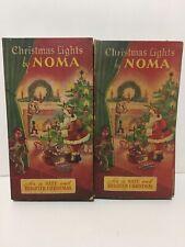 Vintage Noma Christmas Lights Blue in Original Boxes 1936 BOTH SETS WORK (RARE)