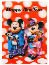Disney Mickey and Minnie Happy New Year 3D Lenticular Greeting Card / Postcard