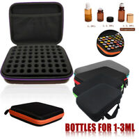 63 Bottle Essential Oil Carry Case 1-3Ml Holder Storage Aromatherapy Hand Bag