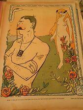 Adam et Eve moi qui ne peux pas souffrit les blondes Humour Print 1905