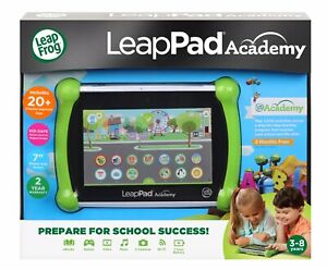 "LeapFrog LeapPad Academy 7"" 16GB Kids Learning Tablet Green"