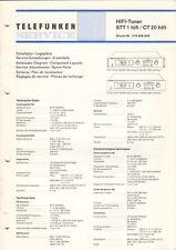 TELEFUNKEN - STT 1 hifi CT 20 Service Manual Schaltplan + Stromlaufplan - B6080