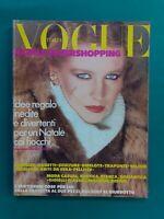 Vogue Italy Shopping 318 December 1977 December Furs Fashion Fur Fourrure Pelz