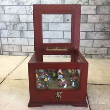 Mr. Christmas Holiday Gold Label Collection Music Box Santa's Workshop & Elves