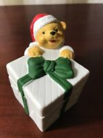 Vintage Santa Bear Porcelain Candle Holder