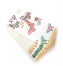 BRANd NeW Mackenzie- Childs BUTTERFLY GARDEN Guest Paper Towels Napkins