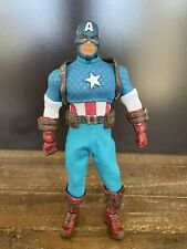 MARVEL MEZCO ONE:12 CAPTAIN AMERICA AUTHENTIC STEVE ROGERS Missing Knife & Stand