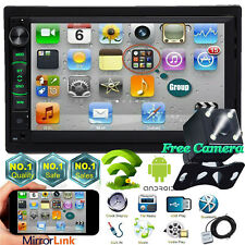 Android WIFI Double 2DIN Car Radio Stereo 4-Core For CHEVY SILVERADO TAHOE 06-15