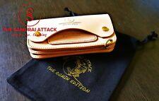 Samurai Attack Trucker Wallet Veg Tanned Leather Natural Edition