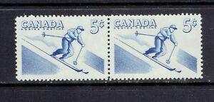 CANADA - 1957 RECREATION SPORTS - SKIING PAIR - SCOTT 368i - MNH