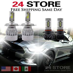 For Toyota Tacoma 2005-2011 - 4X Combo 6000K LED Headlight + Fog Light Bulbs Kit