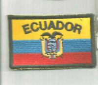 ECUADOR FLAG advertising flag patch 2 X 3-1/2 #8035