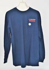 VANS NWT Men's Navy Charlie Brown Christmas Long Sleeve T-Shirt Size L     (D3)