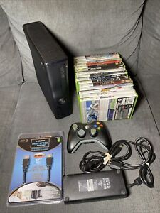 Microsoft Xbox 360 S Slim 320GB Console Bundle - 16 Games, Controller, Tested!