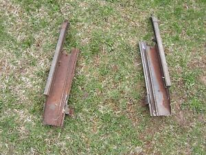 1956 Ford Hard Top Front Door Rear Window Tracks LH & RH Convertible Sunliner