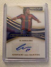 Immaculate Soccer Giovanni Dos Santos Celebration Signatures 22/25 Fc Barcelona