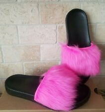 UGG Royale Neon Pink Toscana Fluffie Slide Slip-on Slippers Sandals US 9 Womens