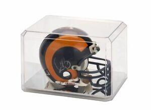 Football Mini Helmet Acrylic Display Case w/ Mirror-like base, Beveled Edges NEW