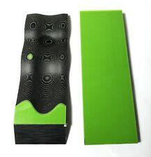 G10 1/4 .250 6X2 Acid Green / Black Layered Knife Handle Material Scales 2pcs.