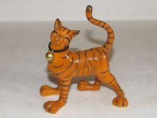 Estate Ugly ferel Tiger Sculpture Exotic Cat Kitty Bell Collar Orange Black vtg