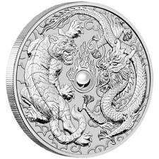 Australien - 1 Dollar 2018 - Drache & Tiger - Anlagemünze - 1 Oz Silber ST