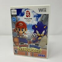 Mario & Sonic at the Olympic Games Nintendo Wii Game Complete With Manual Tested