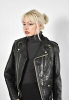 Perfecto By Schott Motorcycle Jacket - Leather Black - Size 36 (Wp8)