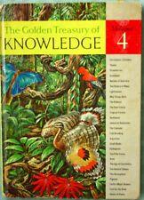 Golden Treasury of Knowledge Vol 4 Vintage c1958 Children's Books Encyclopedia