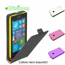 Custodia Cover Flip Case in ecopelle per Nokia Lumia 520 / 525