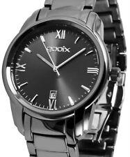 Damen Armbanduhr Schwarz Edelstahlarmband Datum DUA05905 von gooix 149,00 UVP
