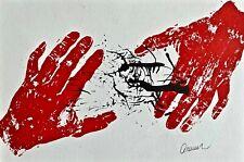 (Nouveau Réalisme) ARMAN (A. Fernandez) MAINS, Lithographie signée sur Canson