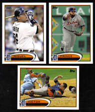 2012 Topps Detroit TIGERS Team Set Both Series 1 & 2 (22 cards)