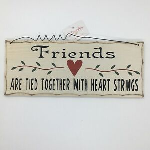Friends are tied Hanging Plaque friendship Wooden Wall Married Gift Idea Novelty