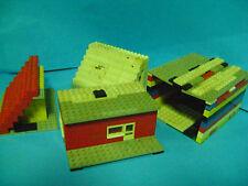 COSTRUZIONI LEGO CASE /GARAGE .VECCHI anni 70 +-