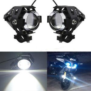 2x 125W U5 Moto LED Fanale Guida Nebbia Pois Luce Angolo Di Occhio Lampadina