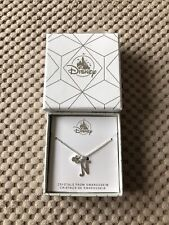 Disney Store Mickey Mouse 'N' Initial Necklace w/ Swarovski Crystal BNIB Parks