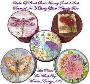 Punch Studio Round Storage/Keepsake/Jewellery/Trinket Collectable Soap Gift Box