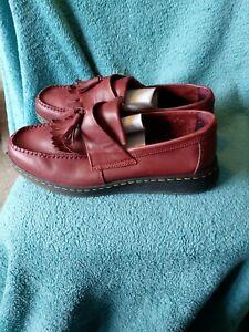 Mens ox blood Dr Martens Soft Wair Slip On Shoes Uk 9