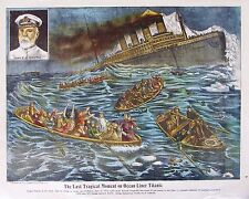 1912 Sinking of the Titanic Poster, H. Ginsberg, RARE!