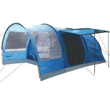 Highlander Oak 4 Person Large Family Camping Holiday Tunnel Tent Imperial Blue