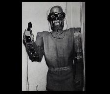 Vintage Freaky Robot Man PHOTO Creepy Weird Strange Scary Steampunk
