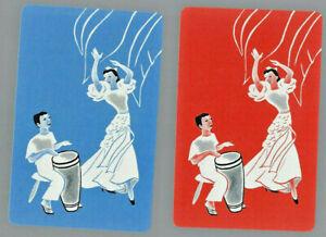 Genuine Swap Vintage Playing Card   Dancers x 2