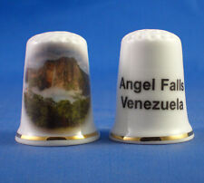 Birchcroft China Thimble -- Angel Falls Venezuela -- Free Dome Box