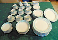 67 Pc Mikasa CHESTERLAND China RARE Blue White Florals L2009 9 Place Settings
