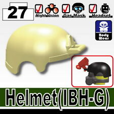 Tan IBH Tactical Helmet for LEGO army military brick minifigures