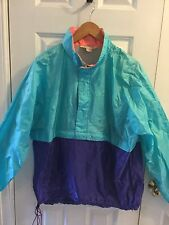 Vtg.LL Bean Windbreaker Pullover Women's Colorblock Turq.purple Sz.L