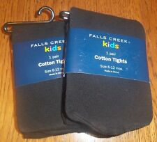 Size 12-24 Months, Fall's Creek Black Girls Cotton Tights 2 Packages