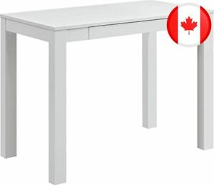 Parsons Desk with Drawer, White Finish