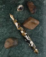 Brown Moonman S3 Acrylic Fountain Pen Gift Pen, Beautiful Barrel EF/F Nib