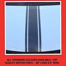 CAR BONNET RACING / VIPER STRIPES ALL STANDARD COLOURS DECALS STICKERS GRAPHICS
